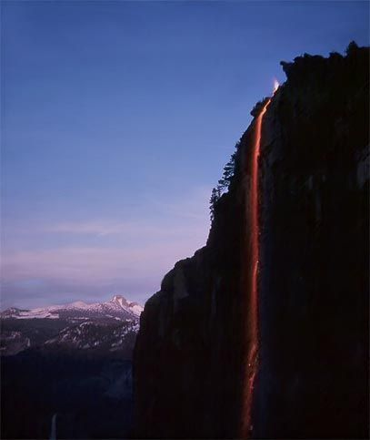 See the Firefall at Yosemite