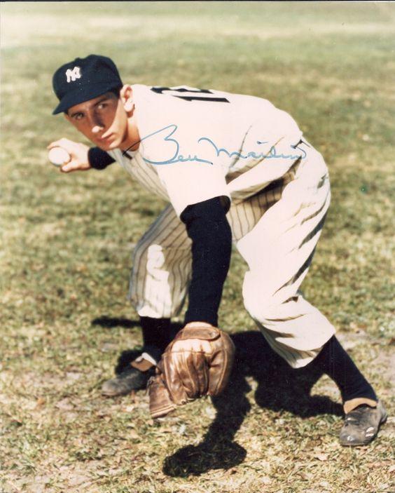 8x10 Billy Martin autograph