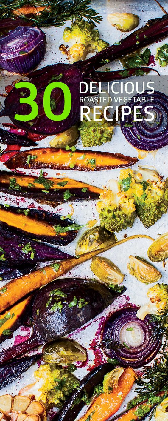 Amazing recipes for roasted vegetables including lemony roasted broccoli, maple-ginger-roasted root vegetables, curry-roasted butternut squash and more.