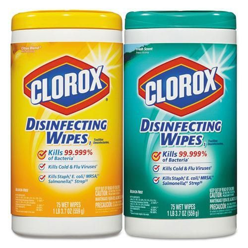 Disinfecting Wipes 7 X 8 Fresh Scent Citrus Blend 75 Canister
