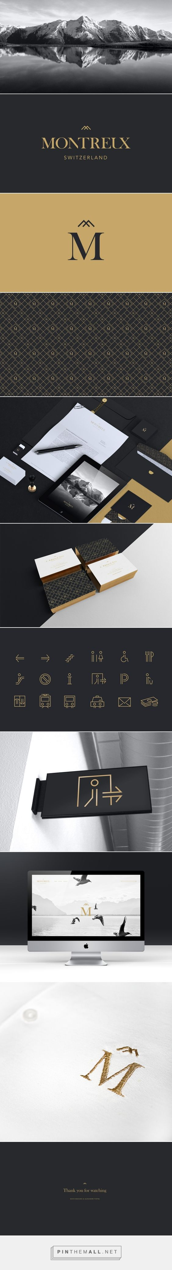 Montreux | Branding on Behance... - a grouped images picture - Pin Them All