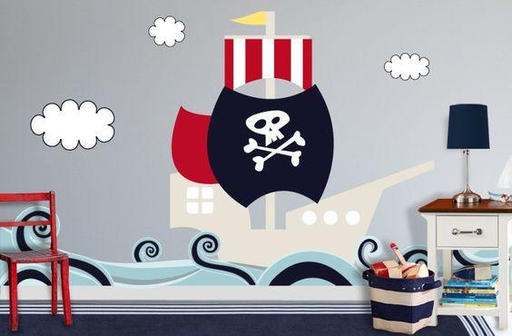 piratenschiff im kinderzimmer etsy pirate room idea wohnidee kinderzimmer pinterest. Black Bedroom Furniture Sets. Home Design Ideas