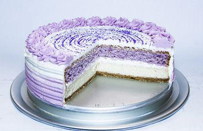 Purple Velvet Cake Cheesecake dessert: