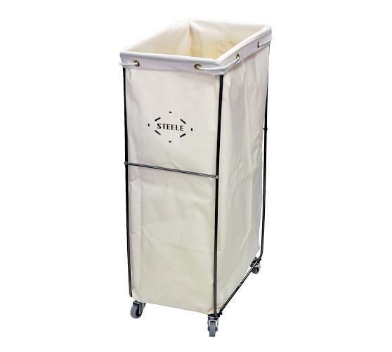 Tall Canvas Caddie Baskets With Wheels Pottery Barn In 2020