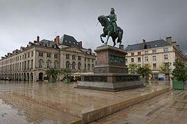 The statue of Jeanne d'Arc, Place du Martroi.