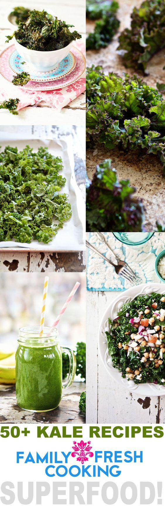 50+ AMAZING Kale Recipes | FamilyFreshCooking.com