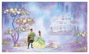 Princess and Frog Chair Rail Prepasted Mural 6 x 10.5 ft. modern decals