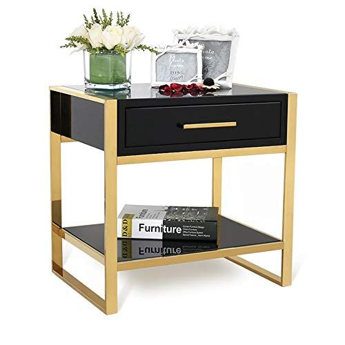 Bedside Table Xiaodong Nordic Style Tempered Glass Coffee Table