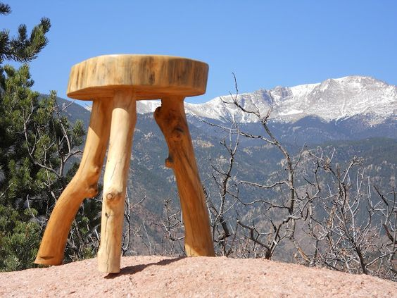 Three Legged Log Stool  How To Make Log Furniture: | Oh! Rubbish! WOOD  Projects {upcycled, Recycled, Repurposed} | Pinterest | Log Furniture,  Stools And ...