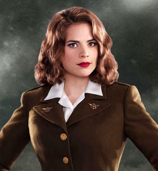 Hayley Atwell as Peggy Carter in Captain America.