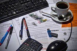 Contable, Contador, Oficina, Café