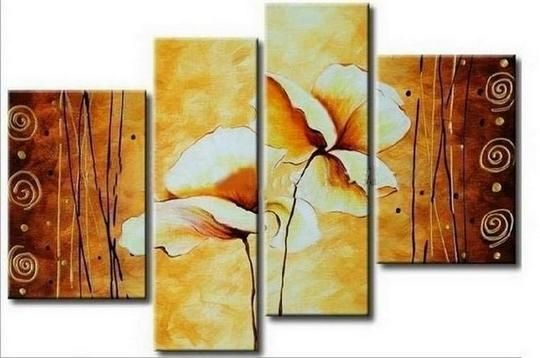 Abstract Art Lotus Flower Painting Large Painting Abstract