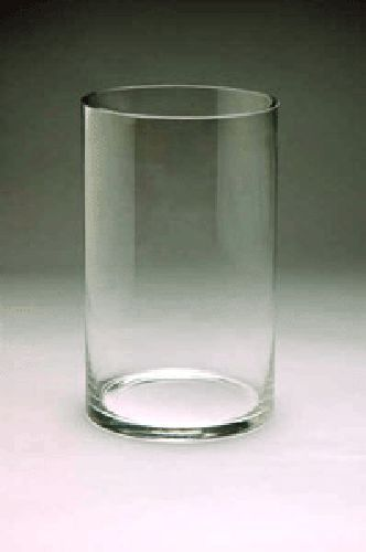 """Wholesale Clear Cylinder Glass Vase: 6"""" Opening x 12"""" Height (6pcs) VCY0612"""