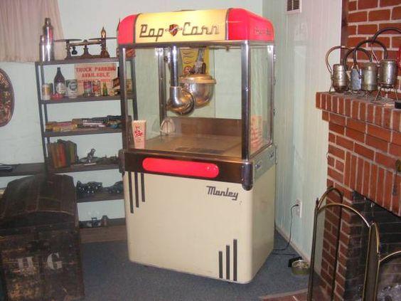 A Nice Manley Aristocrat popcorn machine for sale on Craig's List.