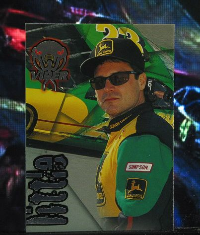 http://nascarniche.blogspot.com/  Chad Little 1996 Wheels Viper Trading Card #47 Base Set Nascar