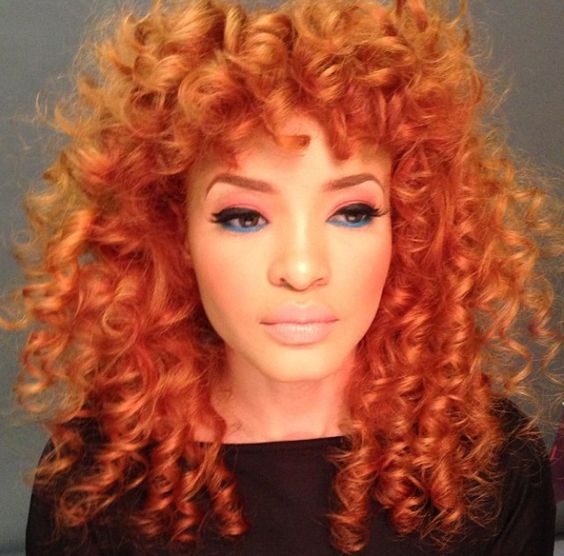 Cool Orange Hair Colors Curly Hair And Orange On Pinterest Hairstyles For Women Draintrainus