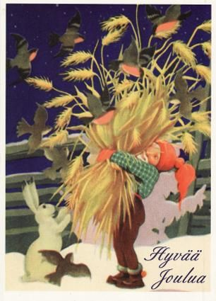 Rudolf Koivu...Finnish Merry Christmas.... love this Scandinavian tradition of feeding the birds at Christmas: