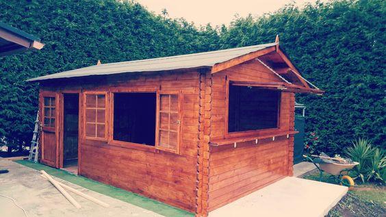 Garaje de madera Tony transformado en Kiosco de madera
