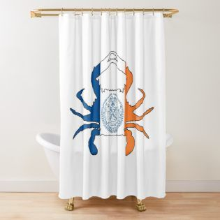 New York City Crab Flag By Wickedcartoons Redbubble With