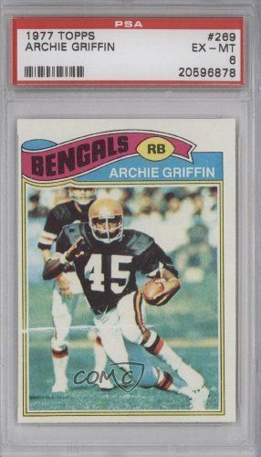Archie Griffin RC (Rookie Card) PSA GRADED 6 Cincinnati Bengals (Football Card) 1977 Topps #269 by Topps. $8.88. 1977 Topps #269 - Archie Griffin RC (Rookie Card) PSA GRADED 6