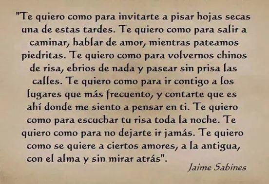 Con el alma y sin mirar atrás... Jaime Sabines.