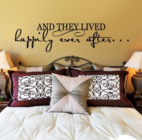 Love this decal above the bed<3