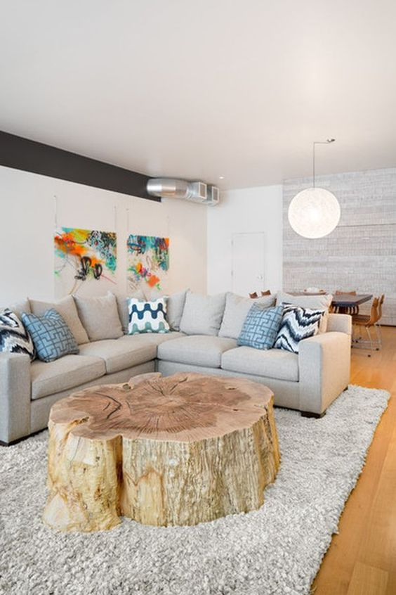 The Coolest New Decorating Trend: 18 Great Tree Stump Decor Ideas   How Does She