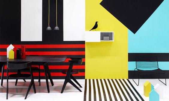 Stylist Susanna Vento... Me encanta el contraste de colores, las lineas... todo :D