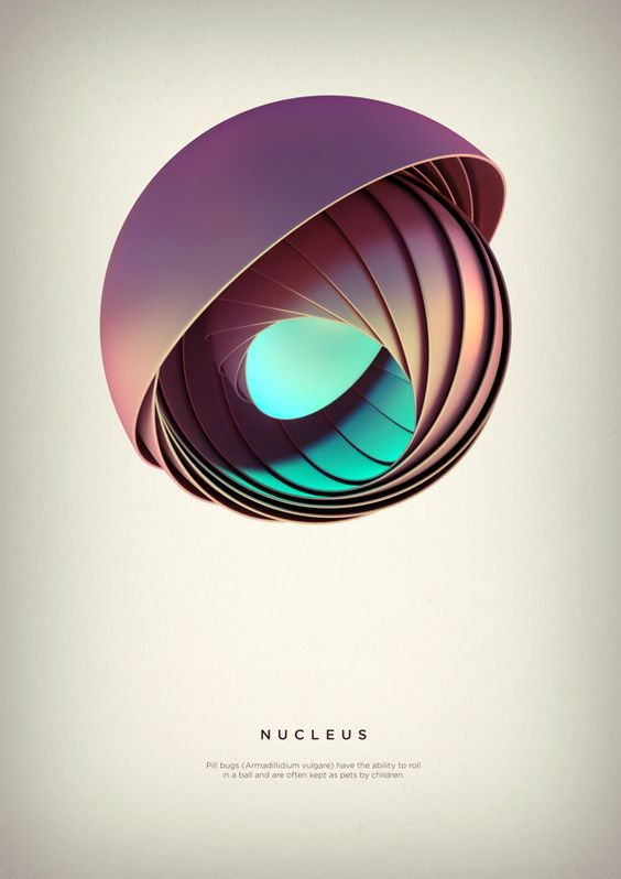 Revolved Forms by Črtomir Just // 3d colors effects, grafics