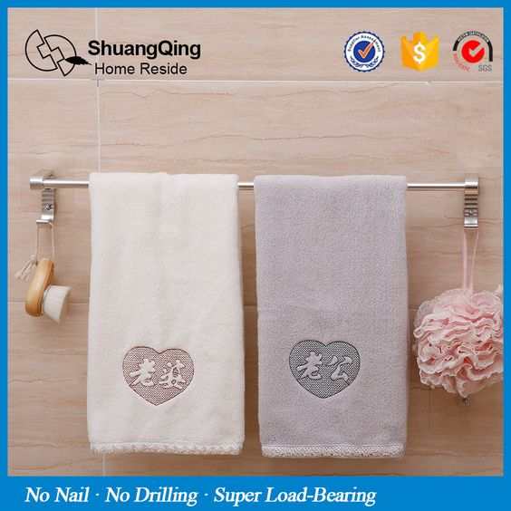 Magic Sticker Max Loading 5kg No Nail No Drill Aluminum Towel Bar Kitchen Bath Towel Holder Bathr Towel Holder Bathroom Towel Hanger Towel Hangers For Bathroom