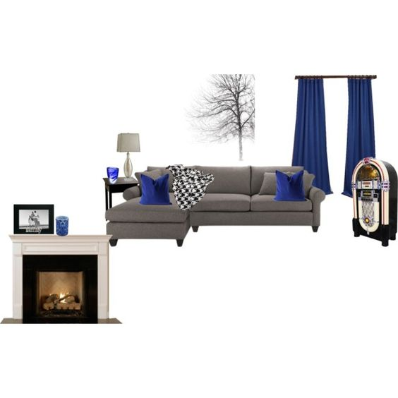 royal blue decor living room black living rooms grey living royal blue