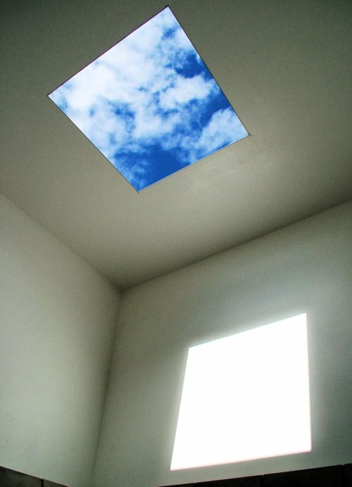 I love this room with the hole in the ceiling. I'm fairly certain this at PS1.