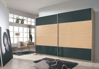 Rauch Juwel A Sliding Wardrobe with Wood Decor Centered