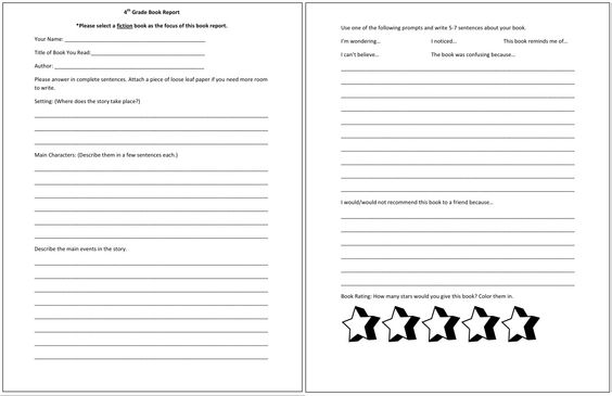 Biography Report with Oral Report E and K Book Reports - grade 2 book report template