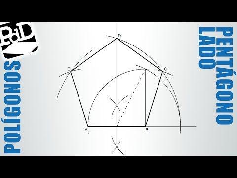 Pentágono Dado El Lado Polígonos Regulares Youtube Polígono Regular Poliedros Geometría