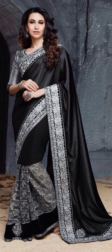 #getthislook #KarismaKapoor #saree #Bollywood #Monochrome #Partywear #Indianwedding #embroidery #Lace: