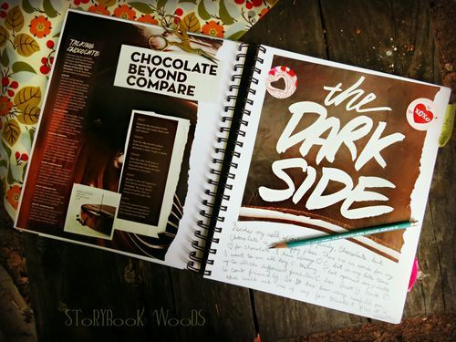 Bloom post about chocolate and low carb/sugar diet, Storybook Woods