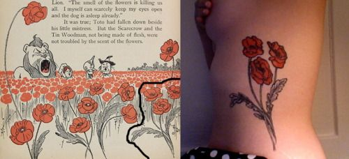 Wizard of Oz poppy tattoo