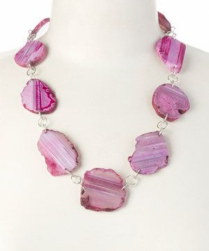 Look at this #zulilyfind! Barse Pink Agate & Sterling Silver Necklace by Barse #zulilyfinds
