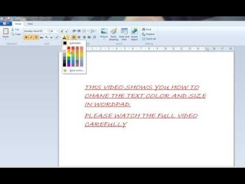 10 How To Change The Text Color And Size In Wordpad Youtube Text Color Texts Color