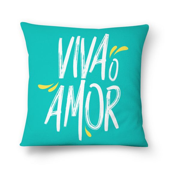 viva o amor - azul de @mvcstore · Almofadas · R$55,00