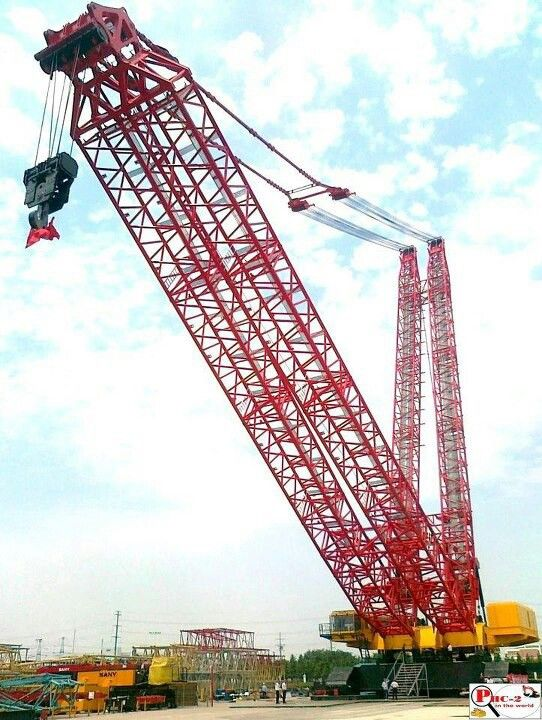 Big Iron! Love watching my hubby run a crane, but never saw him run one this big!