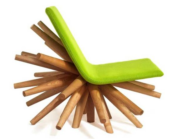 Vivid Funky Blast Chair Standing On A Collection Of Legs