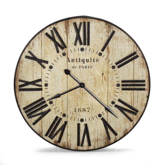 Horloge murale 90cm de diam tre au style industriel for Alinea decoration