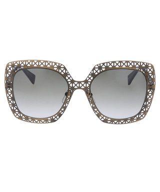 Brown cut-out oversized sunglasses Sale - Alexander McQueen Sale