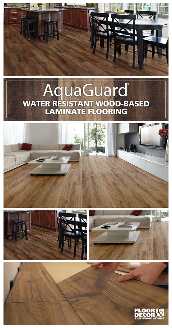 Aquaguard is a water resistant laminate that looks and - Can you use laminate flooring in a bathroom ...