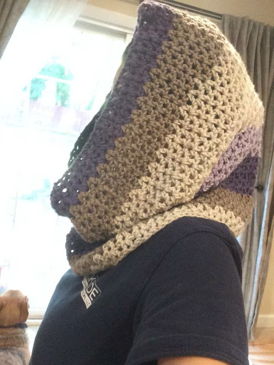A personal favorite from my Etsy shop https://www.etsy.com/listing/461535734/colorblock-hooded-cowl