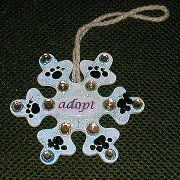 http://tophatter.com/auctions/6659/standby   This can have dogs name, or Adopt, Foster, or Rescue, Holiday ornament