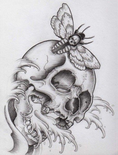 Skull Line Drawing Tattoo : Sketch tattoo drawings and skull head on pinterest