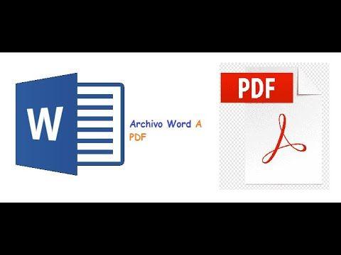Tutorial Como Convertir Un Archivo Word A Pdf Fácil Y Rápido Youtube Tech Company Logos Allianz Logo Company Logo